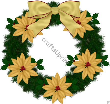 Wreath Clipart Png C77   Christmas Wreath
