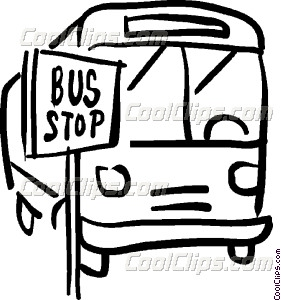 Bus St The Bus Stop Vector Clip Art