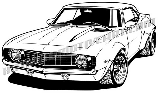 Chevy Camaro Classic Car Clip Art Cliparts
