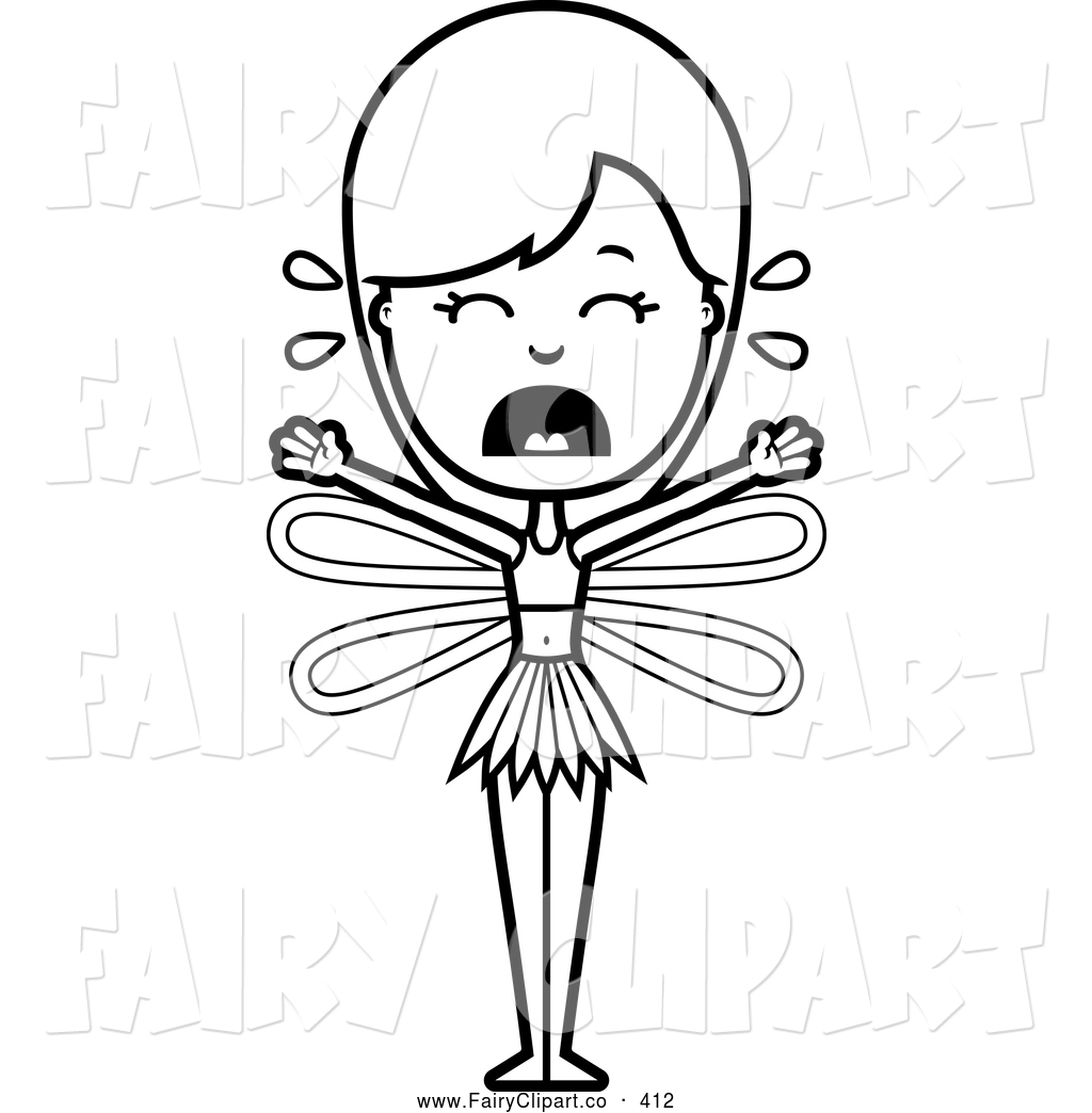 Coloring Page Of A Black And White Crying Fairy By Cory Thoman 412 Jpg