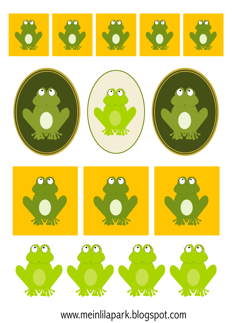 Digital Frog Scrapbooking Embellishment And Border   Frosch Clipart