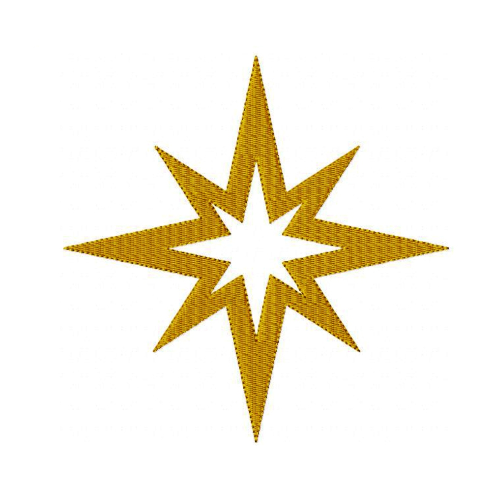 Dreams Embroidery  Star Of Bethlehem Machine Embroidery Design Pattern