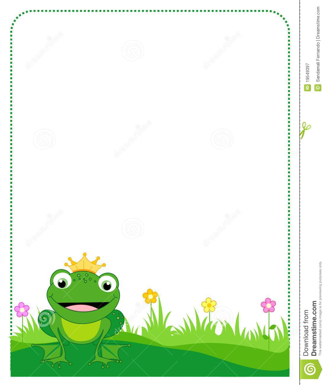 Frog Border Frame Royalty Free Stock Photography   Image  19549397