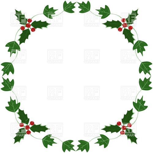 Holly And Ivy Yule Round Frame 24715 Borders And Frames Download