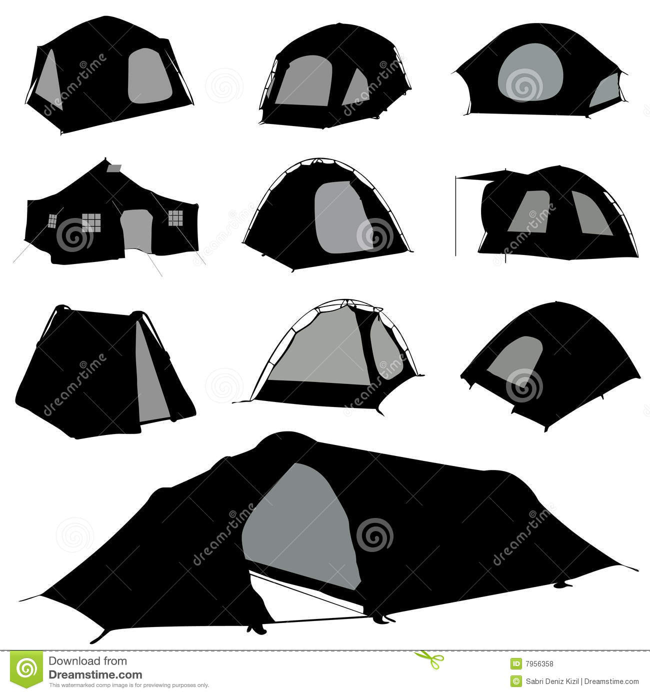 Camping Silhouette Clipart - Clipart Suggest
