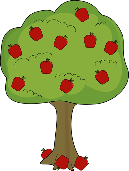 Apple Tree With Fallen Apples Clip Art   Apple Tree With Fallen Apples