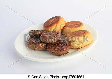 Breakfast Sausage Patty Clipart Platter Of Fried Sausage Patties And