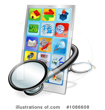Cell Phone Clipart  1086608 By Geo Images   Royalty Free  Rf  Stock