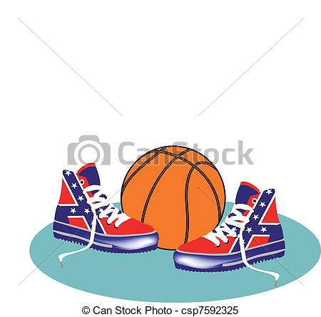 Clipart Vector Of Gym Shoes   Basketball Shoes Csp7592325   Search