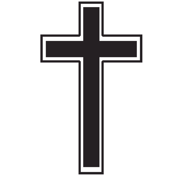 Cross Outline Clipart - Clipart Kid