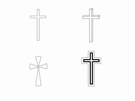 White Cross Outline Clipart - Clipart Kid
