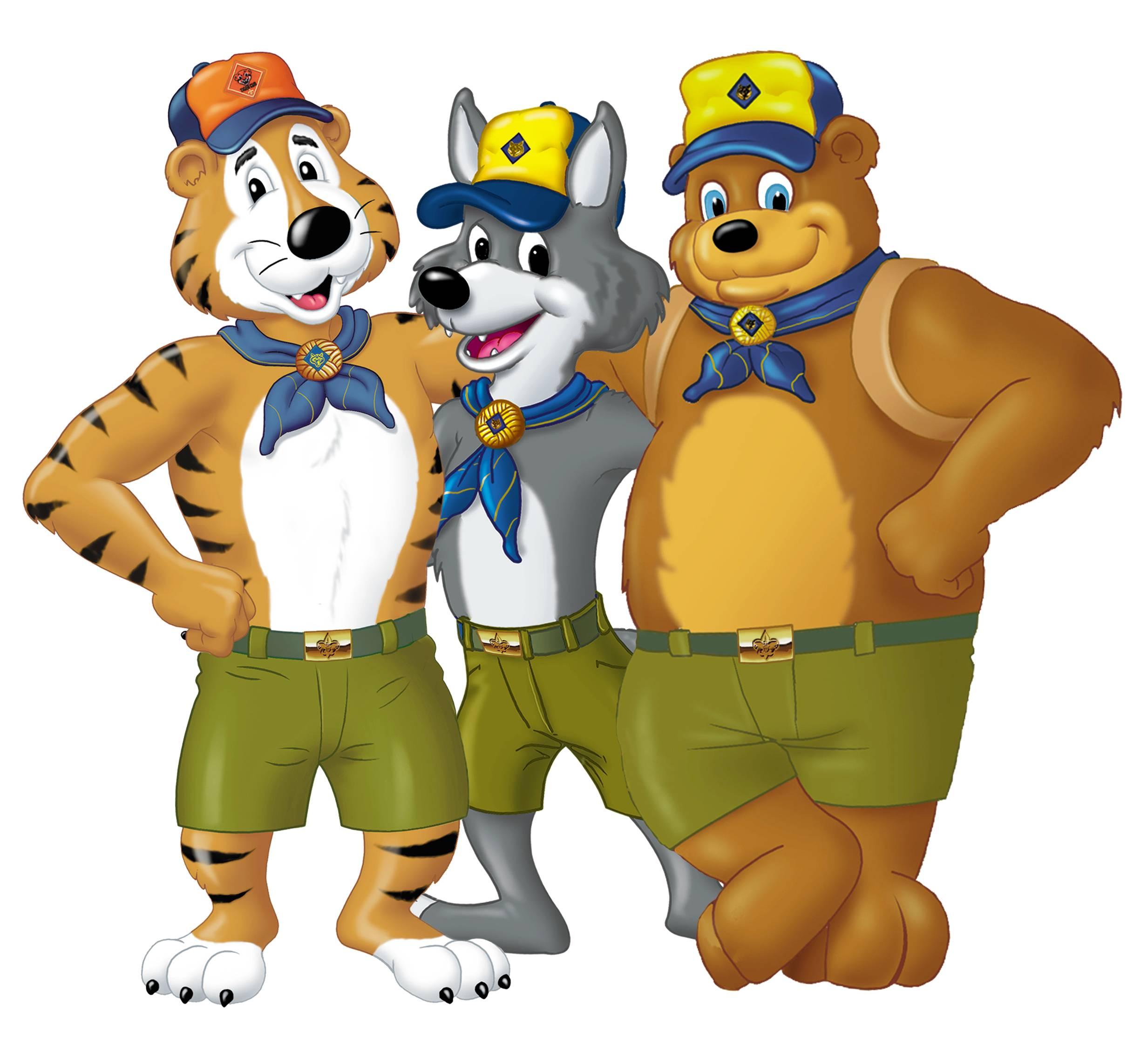Cub Scout Salute Gold Cub Scout Emblem Baloo Akela Baloo