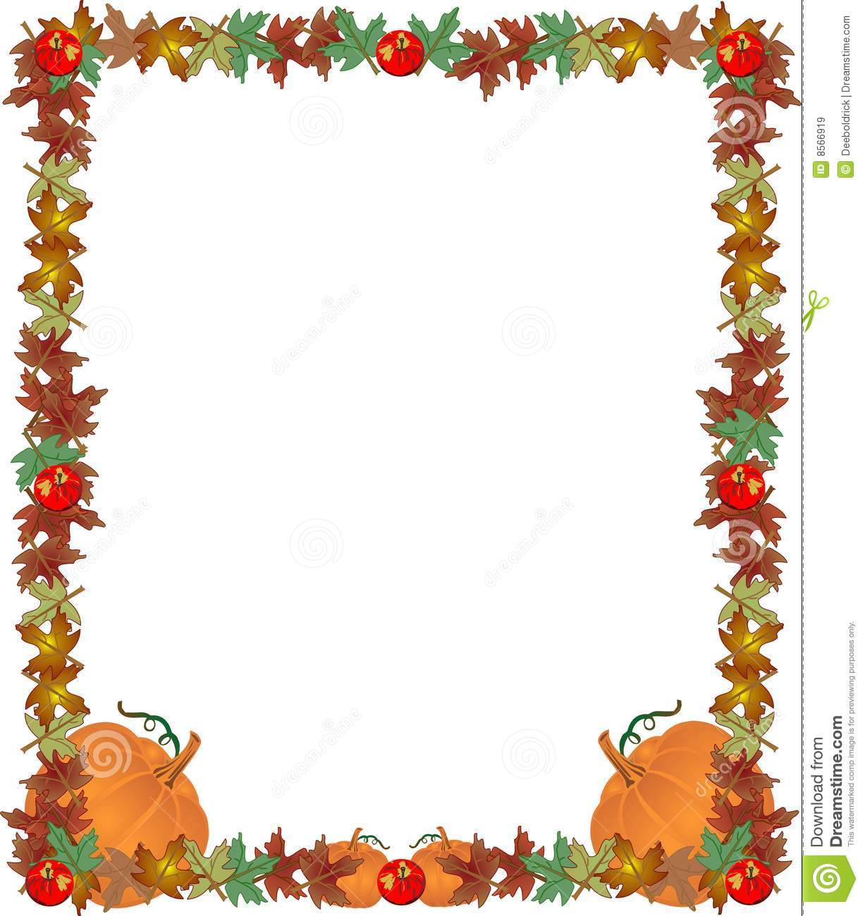 Fall Leaves Apples And Pumpkins  Creating A Great Frame Border