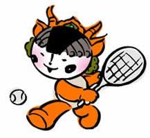 Free Cute Tennis Clipart  Charming Little Chinese Adorable Cartoon