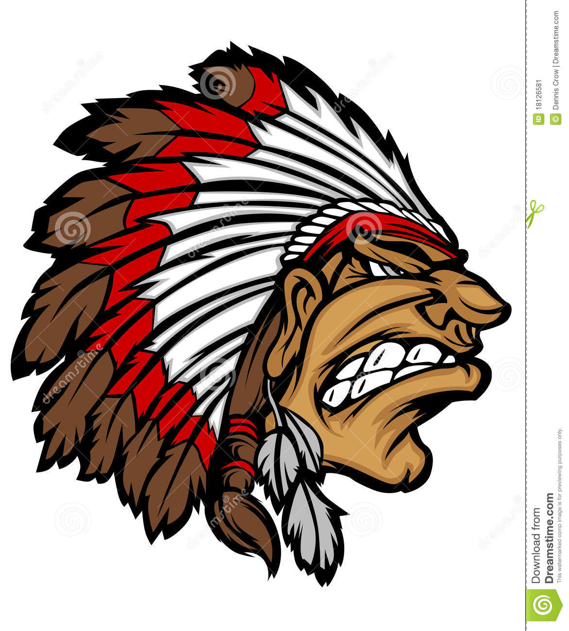 Go Back   Images For   Indian Mascot Clipart