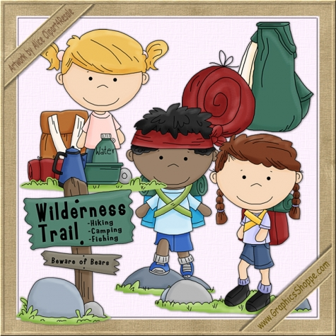 Hiking Clip Art Whimsical Graphics    3 00   Graphics Shoppe
