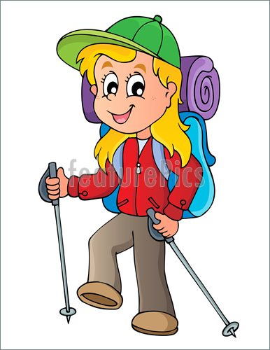 Hiking Girl Illustration  Clip Art To Download At Featurepics Com