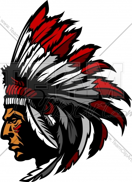 Indian Chief Logo   Chief Mascot Vector Clipart Graphic
