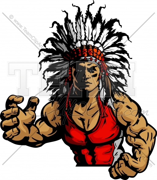 Indian Chief Wrestling Clipart And More Wrestling Mascots