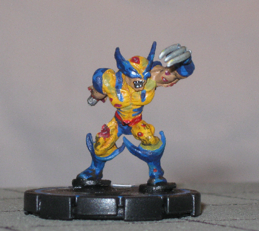 Marvel Zombies   Zombie Wolverine Custom Heroclix  Front