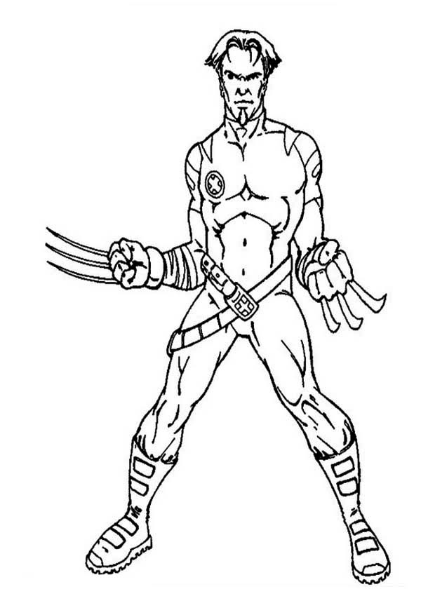 x men 2 coloring pages - photo #26