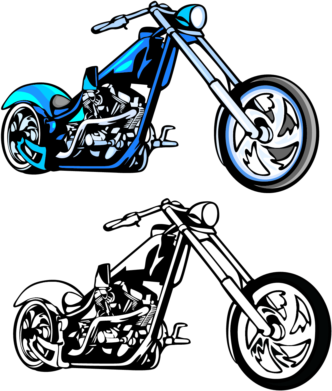 Motorcycle Silhouette Clipart - Clipart Kid