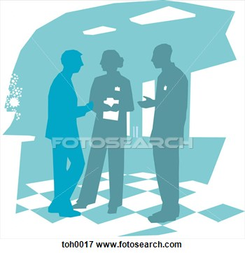 Of Hospital Staff Having A Discussion Toh0017   Search Eps Clipart
