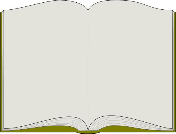 Open Book Template Clipart - Clipart Suggest