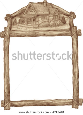 Rustic Wooden Frame Clipart Rustic Wooden Frame With