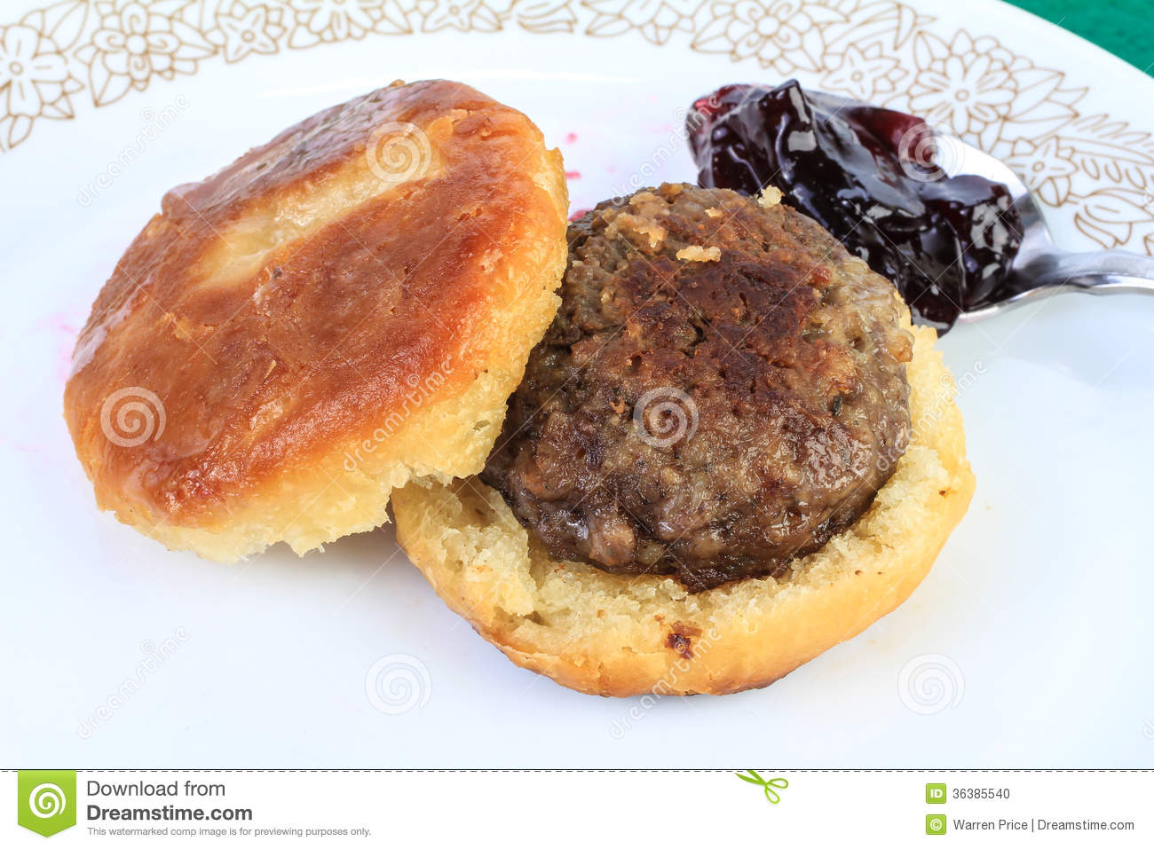 Sausage Patty Clipart Sausage Biscuit With Jelly
