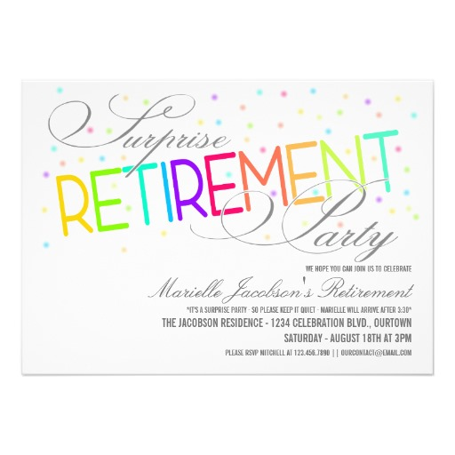 Invitations For Retirement Clipart Clipart Kid – Zazzle Party Invitations