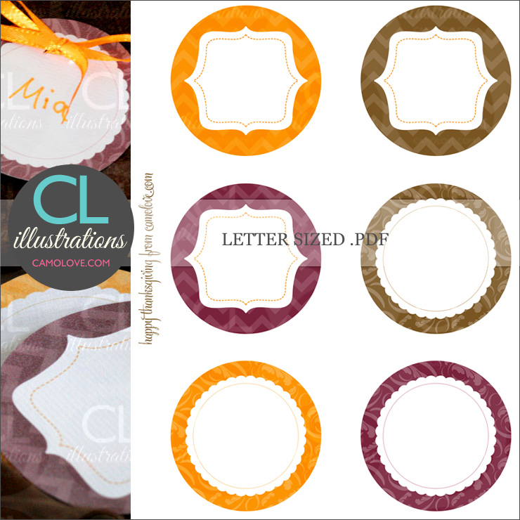 Thanksgiving Elegant Place Cards Printable