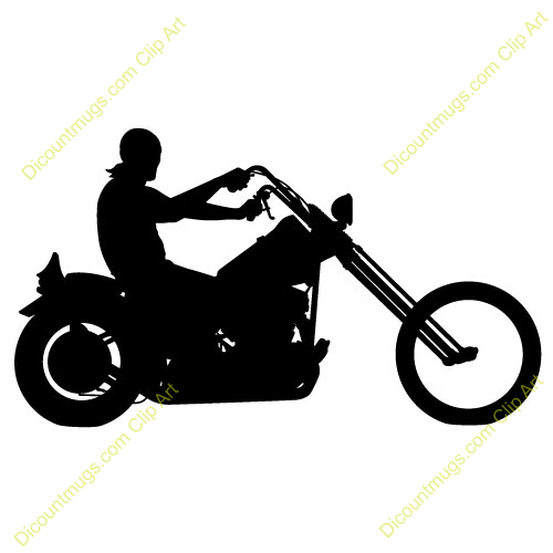 Motorcycle Silhouette Free Clipart - Clipart Kid