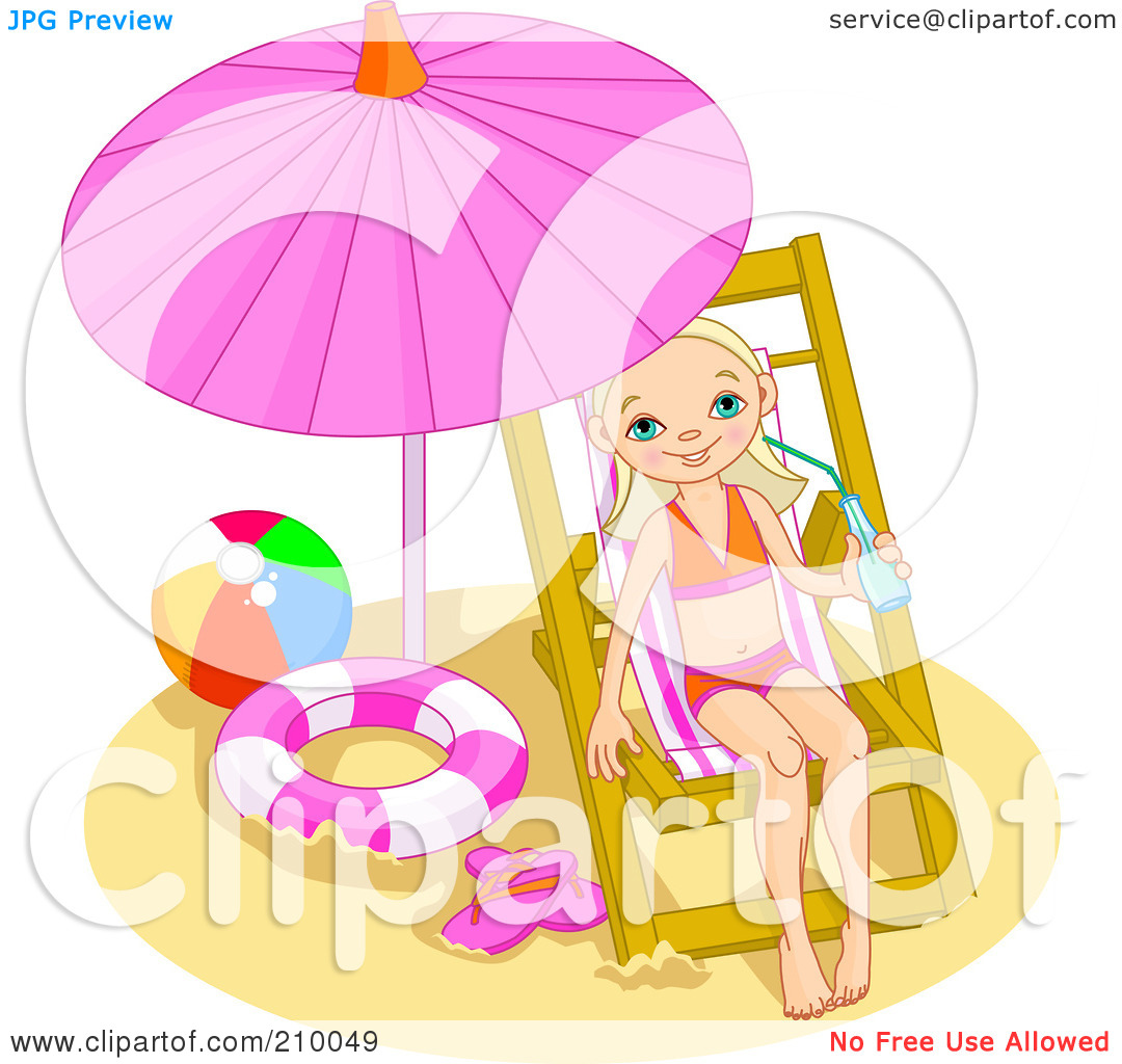 Under A Beach Umbrella Royalty Free Clipart Image   Apps Directories