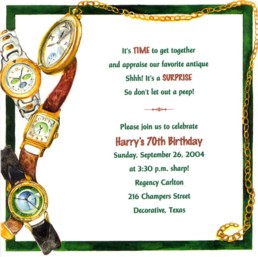 Watches Retirement Party Invitations Watches Adult Birthday Party