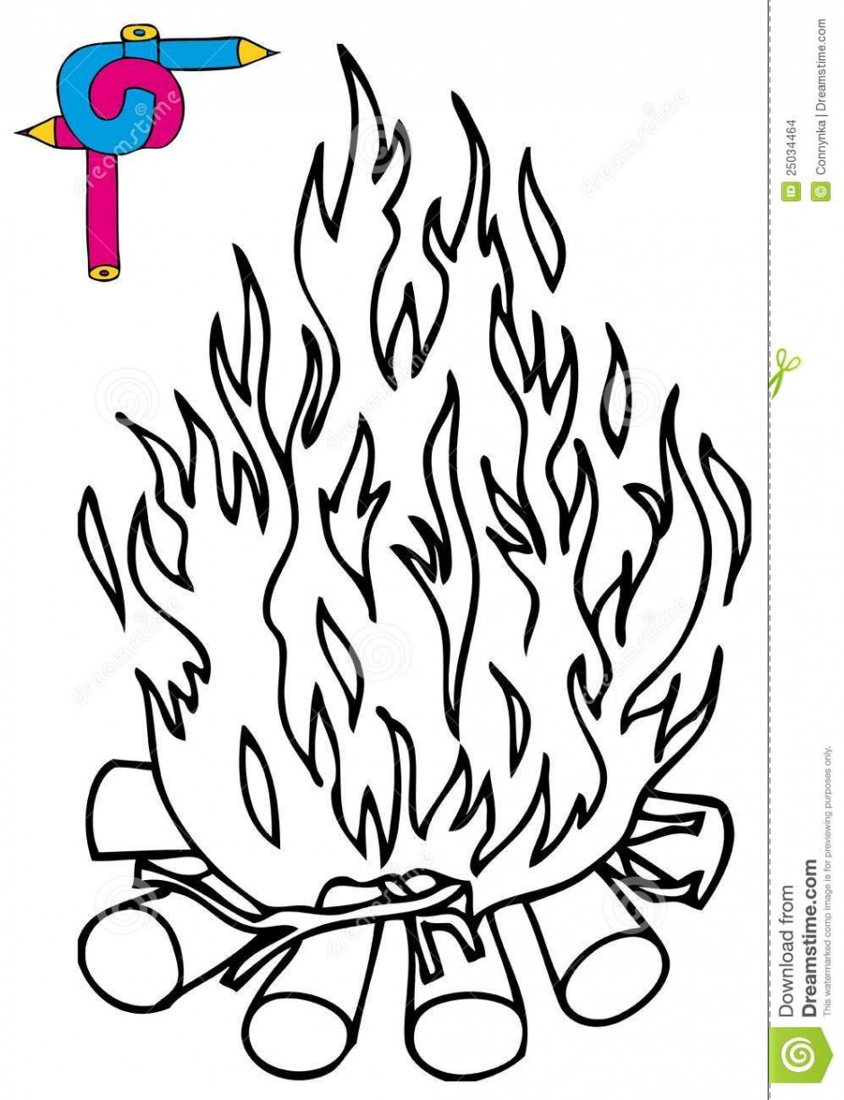 Campfire Black And White Clipart Clipart Suggest