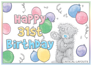 31st Birthday Images At Birthday Graphics Com