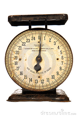 Antique Weighing Scale With Needle Dial Isolated Stock Image   Image