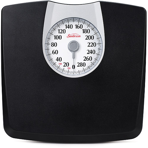 Black Weight Scales Sunbeam Black Dial Scale