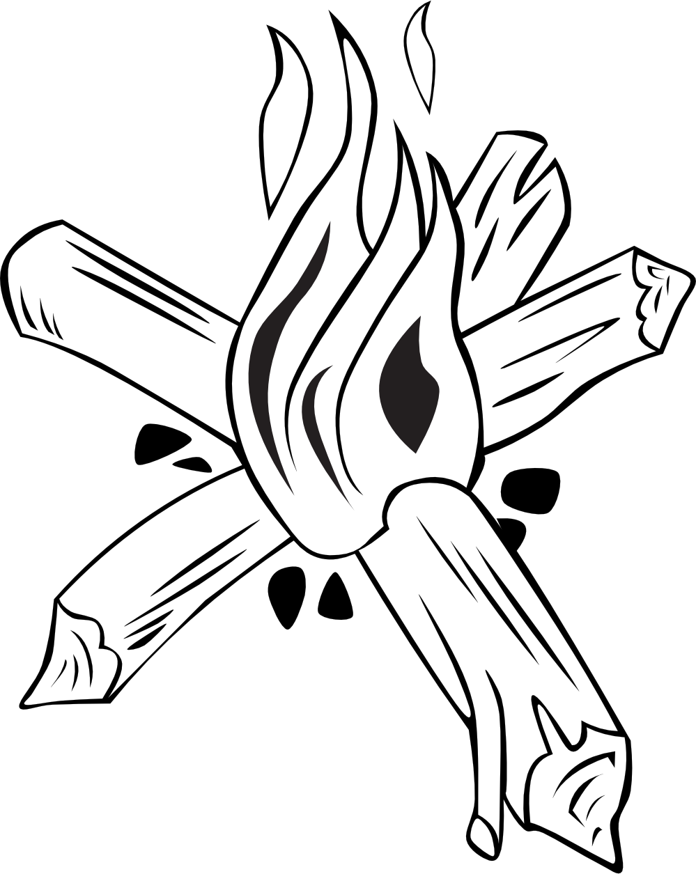 Campfire Clipart Black And White Campfire Clipart Black And White Hd