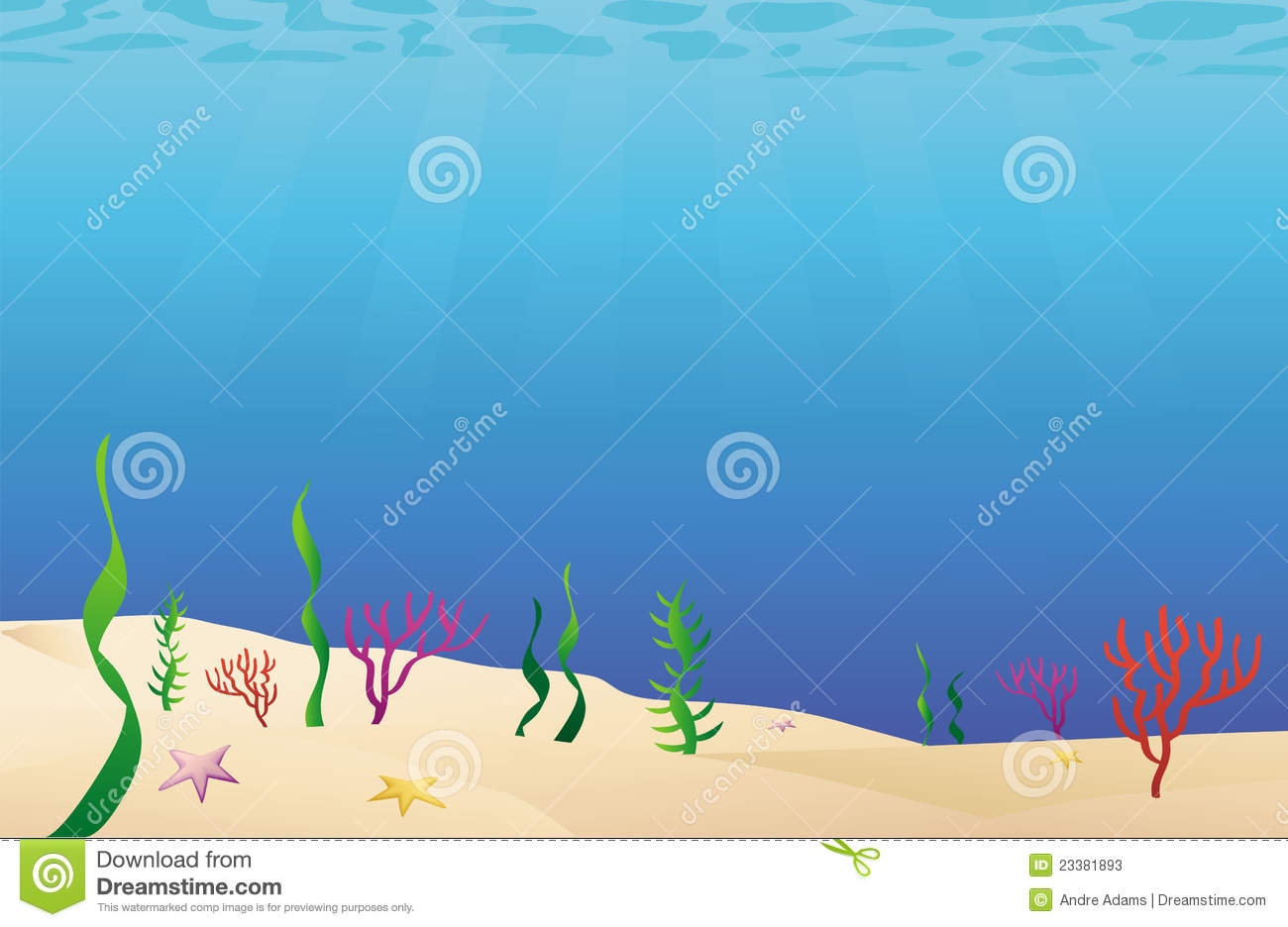 Cartoon Illustration Of A Ocean Floor Sea Bed Mr No Pr No 4 4503 13