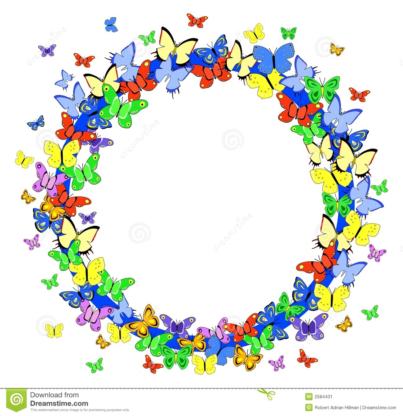 Flower and butterfly border clip art - photo#16