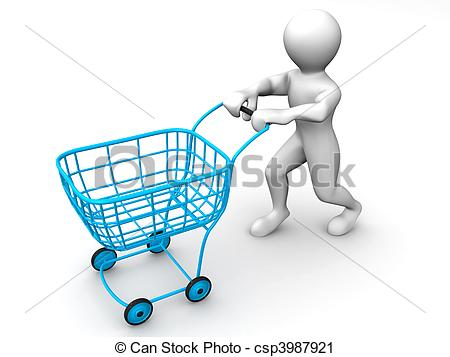 Consumer Clipart Man With Consumer Basket