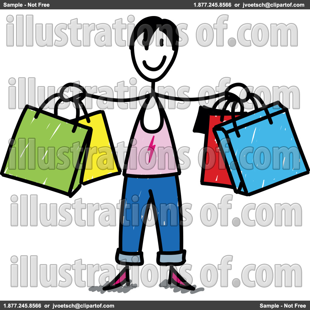 Consumer Clipart Royalty Free Rf Shopping Clipart Illustration By