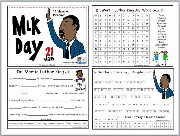 Free Martin Luther King Jr Worksheets Free Worksheets Library ...