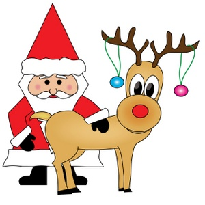 Clipart Of Santa - Synkee