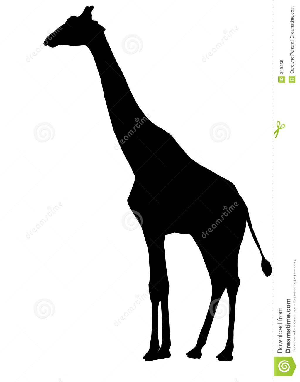 Giraffe Silhouette Clip Art Giraffe Schattenbild 330468 Jpg