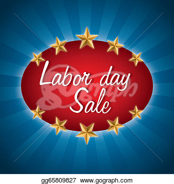 Labor Day Over Blue Background Vector Illustration   Clipart