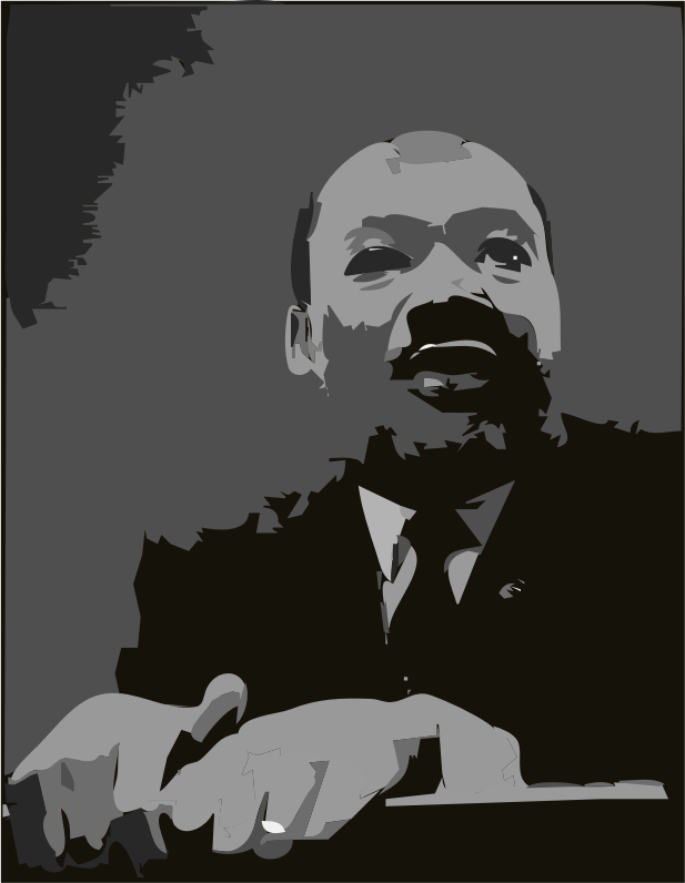 Martin Luther King Jr  At Pulpit By Algotruneman