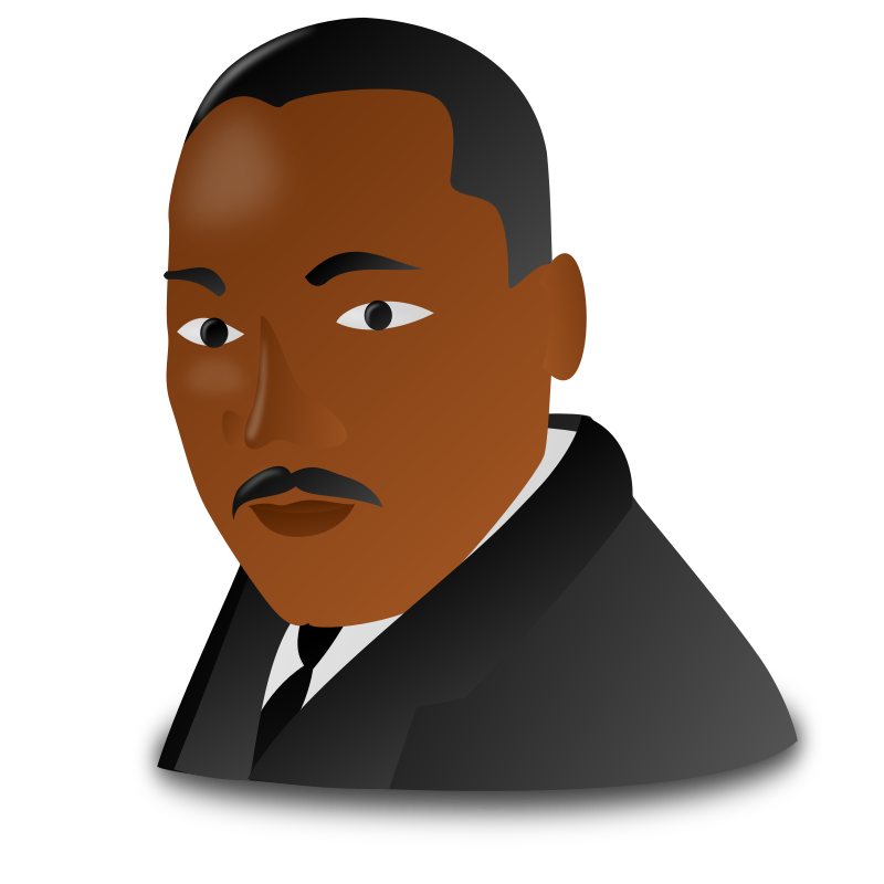 Martin Luther King Jr  Day Icon By Nicubunu   Martin Luther King Jr